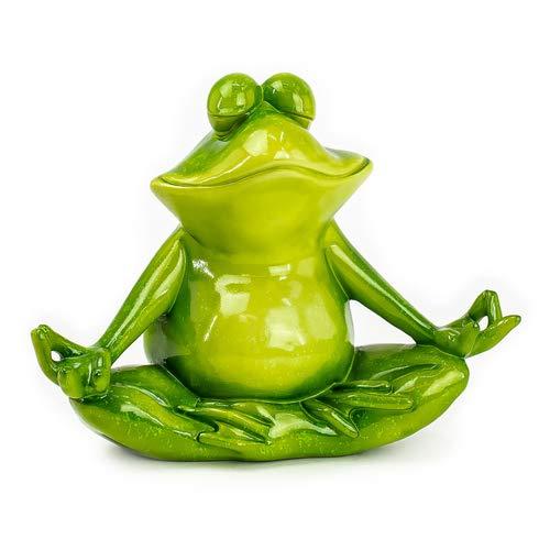 art decor XL Deko Frosch Yoga, Dekofigur Frosch meditierend, Froschfigur H 25cm