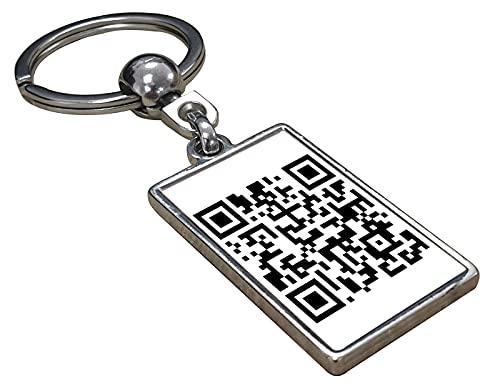 QR-Code-Schlüsselanhänger Mit Deinem Gewünschten Website / Youtube / Spotify / Text - Schlüsselanhänger Verknüpft Mit Der Gewünschten Website oder Musik