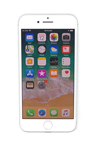 Apple iPhone 8, 64GB, Silver - Fully Unlocked (Renewed)