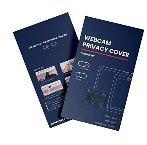 TechPrivacy Webcam Privacy Cover (3 Pack) - Webcam Covers suitable for iPads, Laptops, Macbook, Macbook Pro, Tablets and more, Protects your Privacy Online, Ultra Slim and Logo-less Design