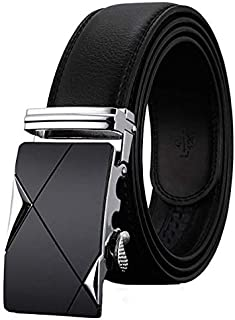 Unisex Real Leather Automatic Lock Auto Buckle Designer Belt All Dressing