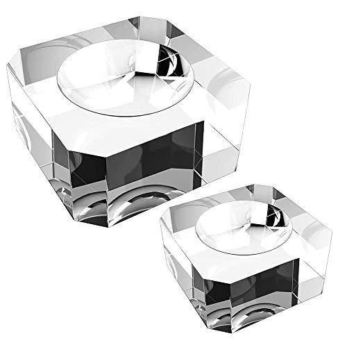 M Mirrwin Expositor para Bolas de Cristal Bola de Vidrio K9 Transparente Cristal Base Base de Soporte de Bola de Esfera de Cristal Se Puede Utilizar para Mostrar la Bola de Cristal (30 * 30 * 18 mm)