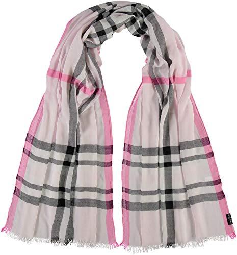 FRAAS XXL-Schal mit Karo-Muster für Damen - aus 100% Viskose - elegantes Mode-Accessoire passend zu jedem Fashion-Stil Hellrosa