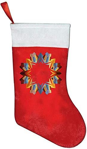 JIMSTRES Star Line Clipart Novelty of Fashion Christmas Stocking Printed Christmas Holiday Socks
