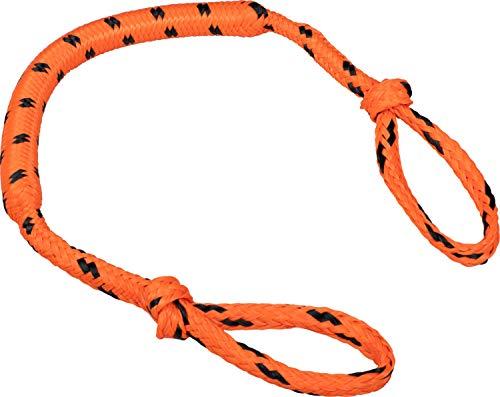 MESLE Schleppleine Bungee 4P 3\', Schwimmende Tube-Leine, 90 cm Section Ruckdämpfer, orange-schwarz, bis 4 Personen Towables, Bungee-Seil elastisch Gummi-Leine Towing-Strap, für Boot Jet-Ski Yacht