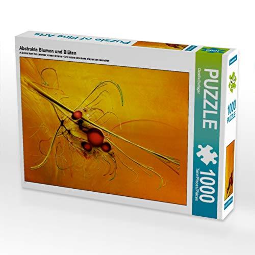 CALVENDO Puzzle Abstrakte Blumen und Blüten 1000 Teile Lege-Größe 48 x 64 cm Foto-Puzzle Bild von Digital-Art