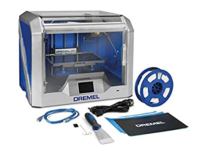 Dremel DigiLab 3D Printer 3D40 (1 PLA Filament, 3.5 Inch LCD Touchscreen, Wi-Fi, Slicing Software) for Hobbyist, Schools, Prototyping