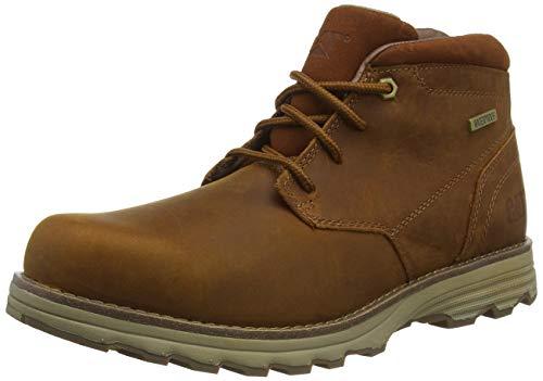 Cat Footwear Elude WP, Botines Chukka Hombre, Leather Brown, 40 EU