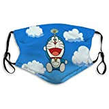 DISGOWONG Reusable M-Shaped Nose Clip Shield Do_ra_emon cat Flying Half Face Shield