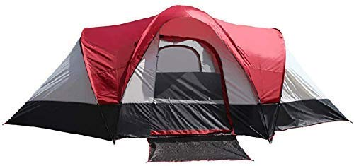 NDYD 5-8 Person Camping Tent Oversized Tents Sun Shelter Waterproof for Outdoor Sports Hiking Travel Rainfly DSB