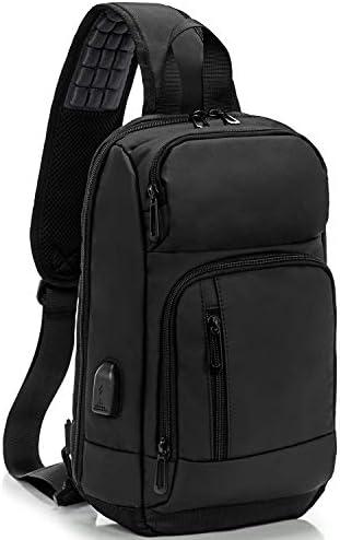 KINGSLONG Waterproof Sling Backpack Bag for Men Women with USB Charging Port Crossbody Daypack product image