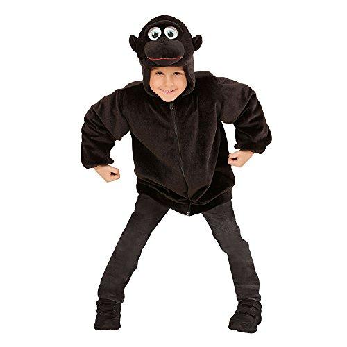 Widmann 97483 - Kinderkostüm Gorilla aus Plüsch, Jacke mit Kapuze und Maske