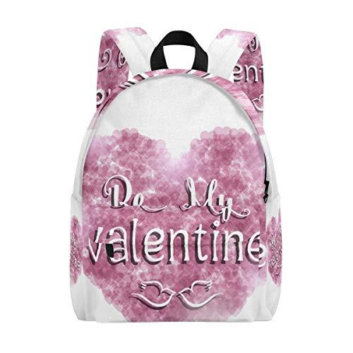 Kid School Rucksäcke Valentinstag Pink Heart Büchertasche Teen Student Girl Boy College Rucksack Büchertasche Freizeitreise Daypack XL