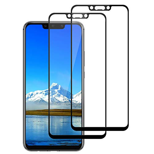 DASFOND Protector Pantalla para Huawei Mate 20 Lite, [2 Piezas] Cristal Templado Huawei Mate 20 Lite,[3D Cobertura Completa] [9H Dureza] [Sin Burbujas], HD Transparente Resistente Arañazos - Negro