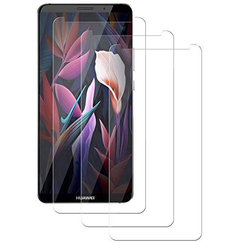 PUUDUU Cristal Templado para Huawei Mate 10 Pro, [3 Piezas] Cobertura Completa, Resistente a Los Arañazos, Sin Burbujas, Película Protectora de Vidrio Templado para Huawei Mate 10 Pro