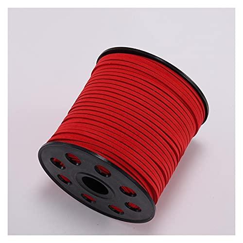 Linyuex 10m / Lote 2.5 mm de Gamuza Plana Gamuza cordón Trenzado Coreano Cuero de Terciopelo Hilo Hilo Cuerda Cuerda para la joyería de Bricolaje Que Hace Suministros