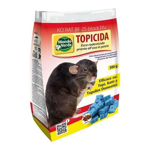 REPLOOD Brodifacoum - Ratones de veneno para ratones, cebo azul, 300 g, de pasta para ratones