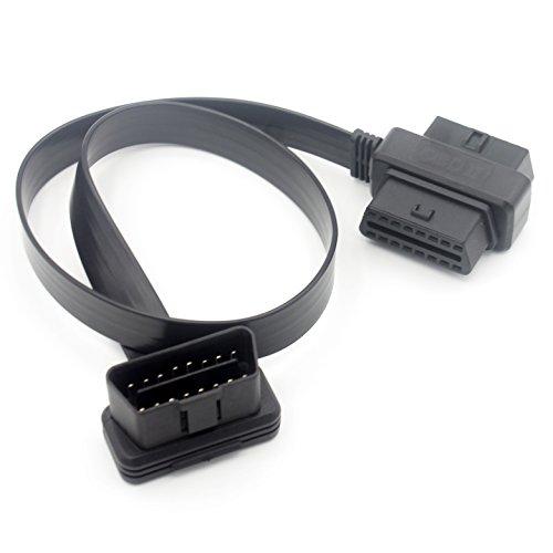 LoongGate OBD-II Splitter Y Cable 60cm - 1 maschio a 2 Combo Head Femmina OBD2 Full 16 Pin Pass attraverso cavo piatto cavo di prolunga diagnostica