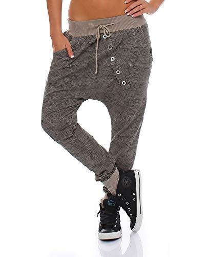 trendy Damen Sweatpants Baggy Boyfriend Freizeithose Jogginghose Baumwolle Sporthose Loose fit