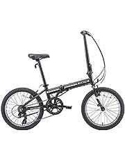 دراجة قابلة للطي بسبعة سرعات من الألومنيوم 28 رطل من يوروميني زيزو 2019 كامبو 28 رطل (أسود غير لامع)