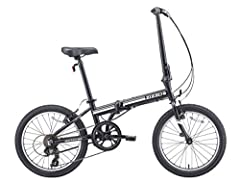 Lightweight aluminum frame; folds in seconds and is easy to carry so you never need to leave it outside. Genuine Shimano components with 7 speeds and grip style shifter. Easy single fold stem, folding pedals, magnet catcher to hold fold bike's frame ...