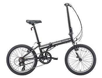 EuroMini ZiZZO 2019 Campo 28lb Lightweight Aluminum Frame Shimano 7-Speed Folding Bike 20-Inch  Matte Black