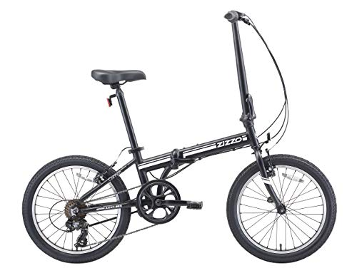 Best Deals! EuroMini ZiZZO 2019 Campo 28lb Lightweight Aluminum Frame Shimano 7-Speed Folding Bike 20-Inch (Matte Black)