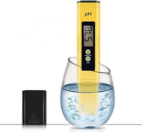 PH Meter, 0.01 Resolution Pocket Size Water Quality Tester with ATC 0-14 pH Measurement Range for Household Drinking