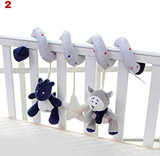 Zandreal Baby Mobile Educational Musical Toy Newborn Plush Rattles Playing Crib Hanging Bell Toys for Baby