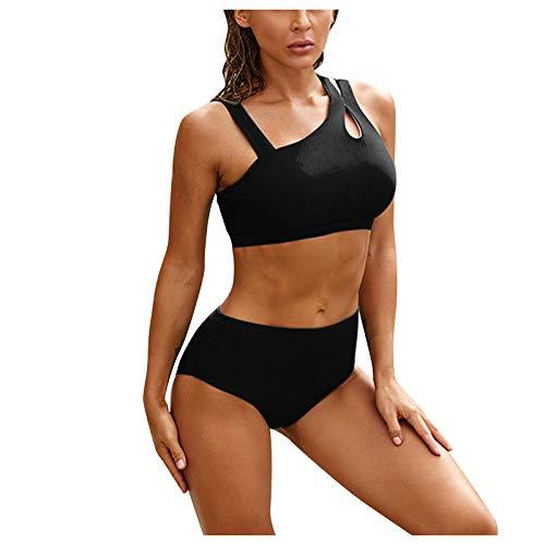 GaTIK Damen Lace Bikini Set Push Up Oberteil mit Bügel Badeanzug Tankini Bademode Beachwear