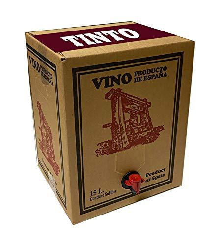 Bag in Box 15L Vino Tinto Joven Bodega Los Corzos (Equivalente a 20 Botellas de 750 ml)
