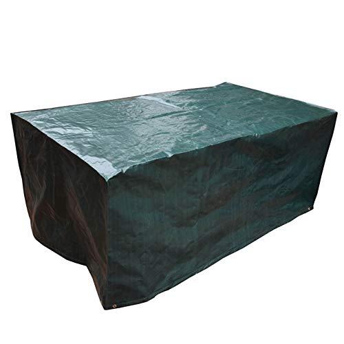 PATIO PLUS Housse pour Table de Jardin, Carré Housse Salon de Jardin en PE Imperméable, Couverture de Protection de Meuble, Table, Chaises 170x95x70cm