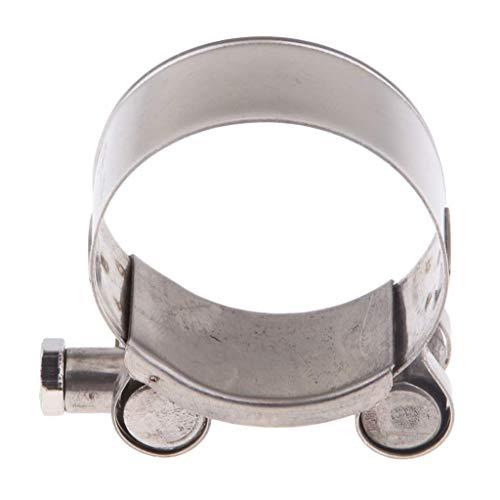Tenlacum Abrazadera de escape de acero inoxidable para motocicleta, 32-35/36-39/40-43/44-47/48-51/52-55 mm (40-43 mm)