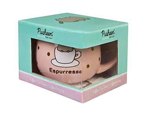 Undercover PUSH9870 Kaffee-/ Teetasse, mit Motivdruck Pusheen, in Geschenkverpackung, aus Porzellan, Fassungsvermögen ca. 300 ml