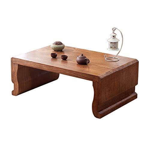 Tables Basse Tatami À Thé Ancienne en Orme Ancien Balcon Baie Vitrée Petit Bureau Salon en Bois Massif Lit Chambre Bureau D'ordinateur Basses