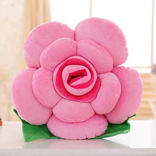 Dongbin Blumen-Form 4 Größe Kurze Plüsch-Sitzkissen PP Cotton Kern Spielzeug Sofa-Kissen,F