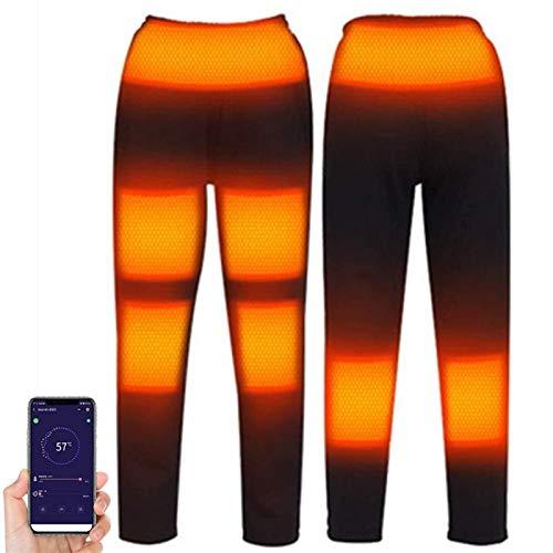 joyvio Pantalones térmicos, Pantalones térmicos eléctricos con 5 temperaturas 8 Zonas de Calentamiento (Size : L)
