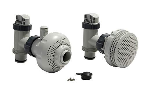 Intex Set de conexión para piscina de 38 mm de diámetro, color gris