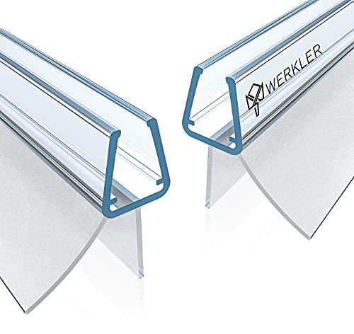 Werkler® Original Duschdichtung [DOPPELPACK] - 2x 80cm Duschtürdichtung für 6mm / 7mm / 8mm Glasstärke - Dichtung für die Glastür passend für jede Dusche - Set aus 2 Gummilippen inkl. Anleitung