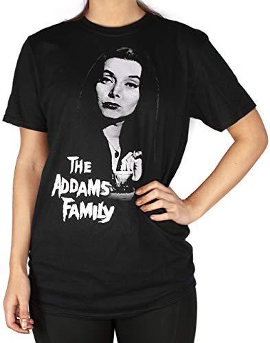 T-Shirt Oversize Nera della Famiglia Addams Donne Morticia