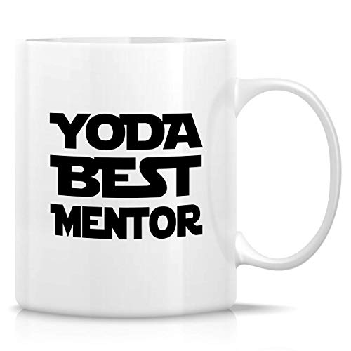 330ml Tazas de té Tazas para espresso Mejor mentor Yoda Taza bebida café Regalo Vajilla de Agua/Leche para Hogar,Oficina