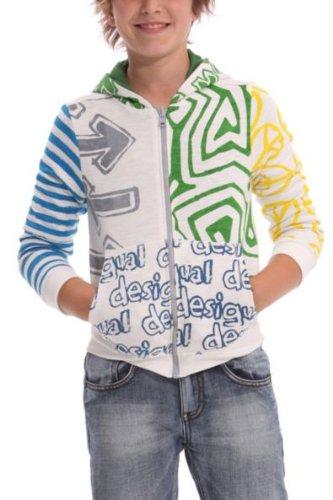 Desigual Jungen Langarmshirt SWEAT_FOA, Gr. 104 (Herstellergröße: 4), Beige (Crudo)