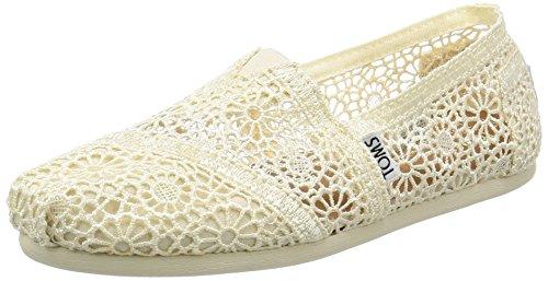 TOMS Women's Classics Flat, Natural Moroccan Crochet, 9 B US
