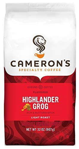 Cameron's Coffee Roasted Ground Coffee Bag, Highlander Grog, 32 Ounce