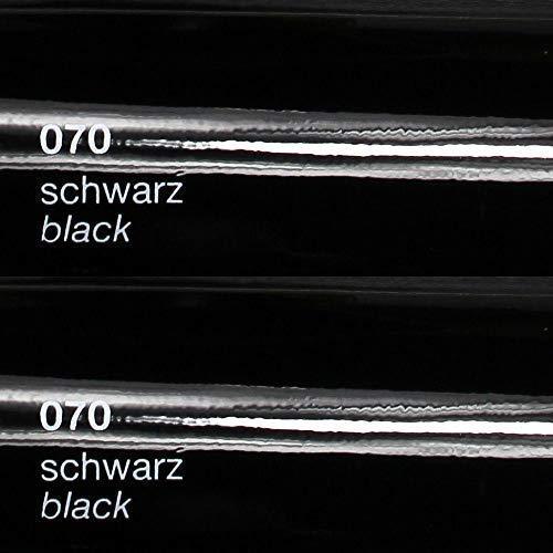 Unbekannt 8,75€/m² Oracal Plotterfolie Glanz 751c 070 Schwarz 63 cm Breite gegossene Plotter Möbel-Folie selbstklebend High Performance cast