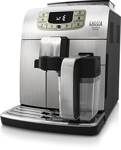 Gaggia RI8263/01 - Cafetera (Independiente, Máquina espresso, 1,5 L, Granos de café, De café molido, Molinillo integrado, Acero inoxidable)