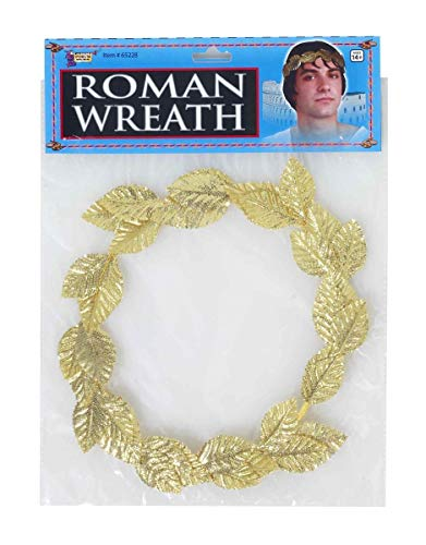 Forum Novelties Party Supplies 65228 Unisex-Adults Leaf Wreath, Gold, One Size, Multicolor