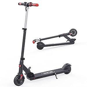 RCB Patinete Eléctrico para Niños Scooter Plegable de 5,5 Pulgadas con Tres Modos de Altura Ajustable Manillares Antideslizantes, Velocidad Máx. 20 km / h, Regalos para Niños y Adolescentes