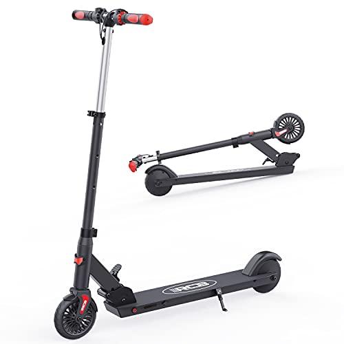 RCB Scooter elettrico per bambini monopattino elettrico pieghevole da 5,5' con tre manubri regolabili in altezza e antiscivolo, max. Velocità 20 km / h, regali per bambini e adolescenti…