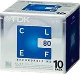 TDK CLEF 80-minute Blank Mini Disc Md Recordable Minidisc 10 Pcs Pack...